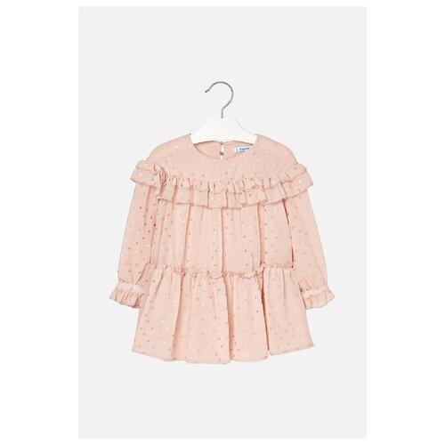 Купить Платье Mayoral размер 122, бежевый, Платья и сарафаны