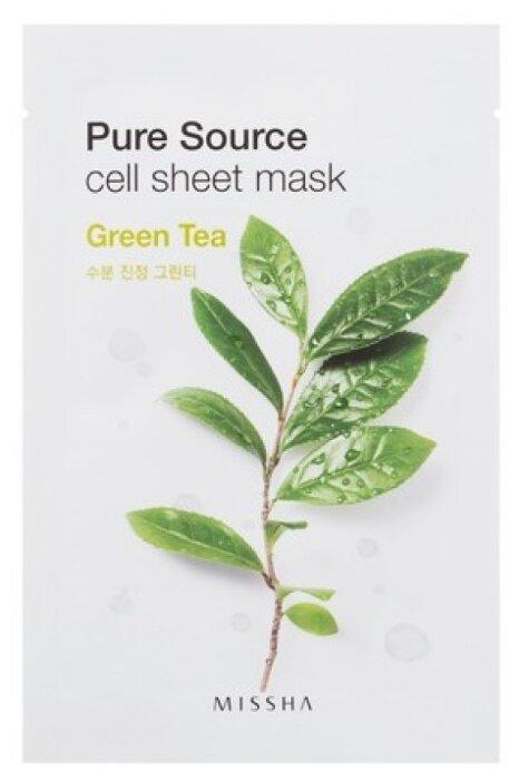 Missha Pure Source Cell Sheet Mask Green Tea увлажняющая маска