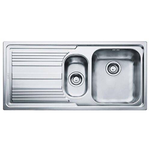 Врезная кухонная мойка 100 см FRANKE LLL 651 101.0086.254 нержавеющая сталь/декор мойка franke agx 260 нержавеющая сталь