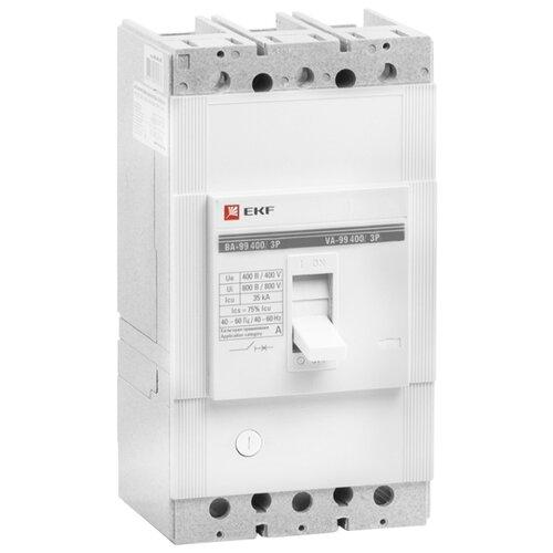 Автоматический выключатель EKF ВА-99/400 3P (термомагнитный) 35kA 400 А