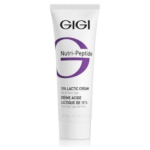 Gigi Nutri-Peptide 10% Lactic Cream Пептидный крем для лица увлажняющий с молочной кислотой, 50 мл gigi пептидный увлажняющий балансирующий крем для жирной кожи 50 мл gigi nutri peptide