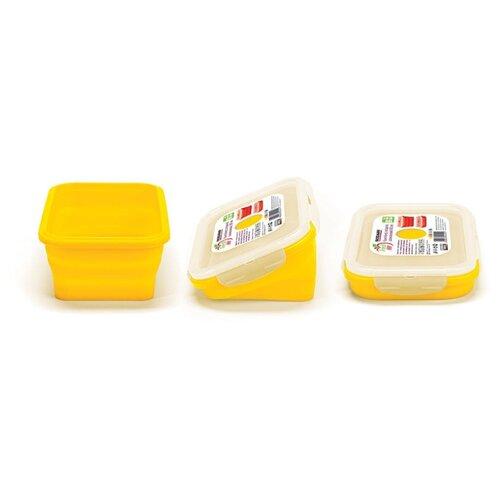 Fackelmann Контейнер прямоугольный складной 800 мл желтый контейнер прямоугольный dosh i home контейнер прямоугольный