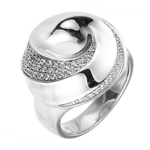 Фото - ELEMENT47 Широкое ювелирное кольцо из серебра 925 пробы с кубическим цирконием 05S2AZR104804CURI_001_WG, размер 18 element47 широкое ювелирное кольцо из серебра 925 пробы с кубическим цирконием 05s2azr104804curi 001 wg размер 18