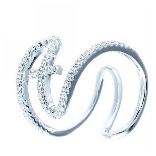 JV Кольцо с фианитами из серебра ML02458A-KO-001-WG, размер 18 jv кольцо с фианитами из серебра dm2370r ko 001 wg размер 18