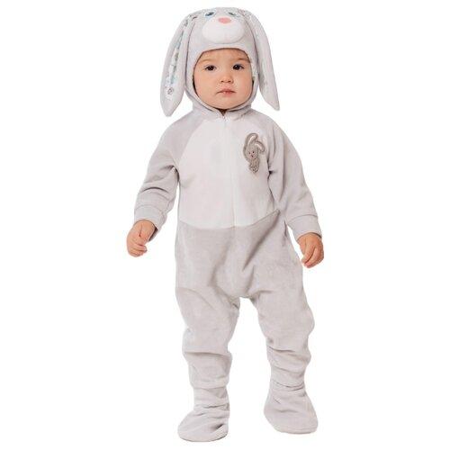 Купить Костюм пуговка Зайчик (6016 к-20), серый, размер 74, Карнавальные костюмы