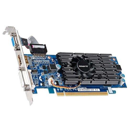 Видеокарта GIGABYTE GeForce 210 1GB (rev.1.0) (GV-N210D3-1GI) Retail