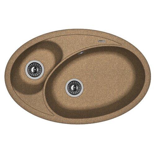 Врезная кухонная мойка 78 см FLORENTINA Селена-780 FG коричневый