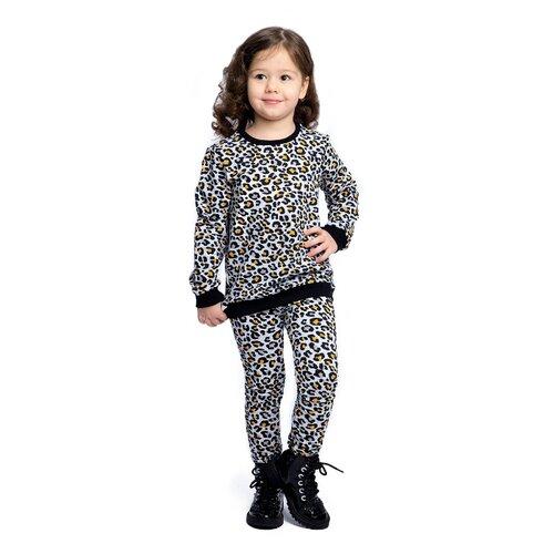 Купить Комплект одежды Веселый Малыш размер 122, серый/оранжевый/черный, Комплекты и форма