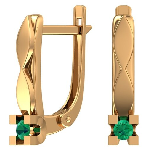 POKROVSKY Золотые серьги с изумрудом 2101304-00020