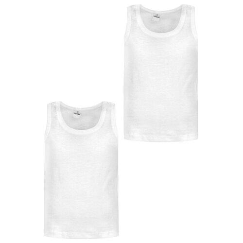 Купить Майка BAYKAR 2 шт., размер 110/116, белый, Белье и пляжная мода