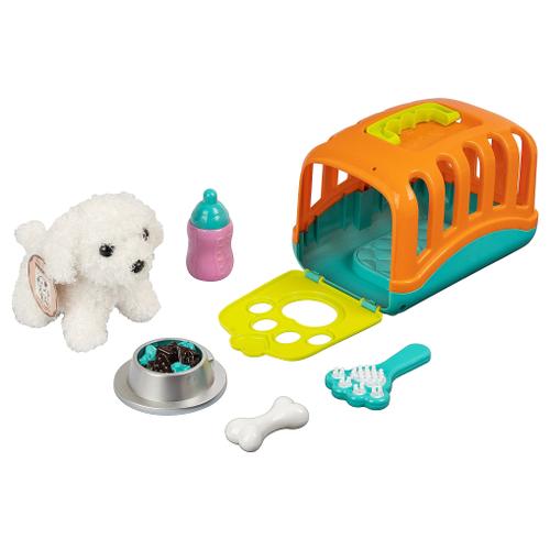 Мягкая игрушка Bondibon Собака белая в сумочке-переноске 12 см