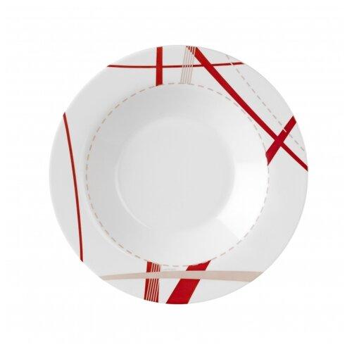 Luminarc Тарелка суповая Couture 22.5 см белый/красный