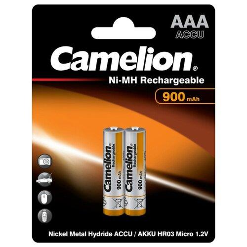 Фото - Аккумулятор Ni-Mh 900 мА·ч Camelion NH-AAA900, 2 шт. аккумулятор ni mh 2500 ма·ч camelion nh aa2500 2 шт
