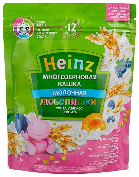 Каша Heinz молочная Любопышки многозерновая со сливой, абрикосом, черникой (с 12 месяцев) 200 г