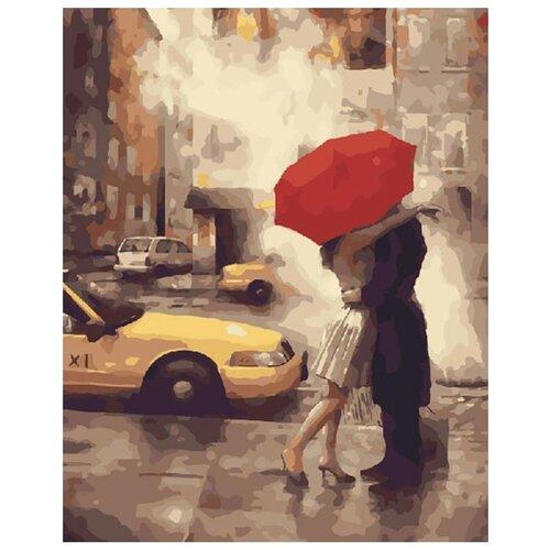 Картина по номерам Живопись по Номерам Счастье под красным зонтом , 40x50 см, Живопись по номерам, Картины по номерам и контурам  - купить со скидкой