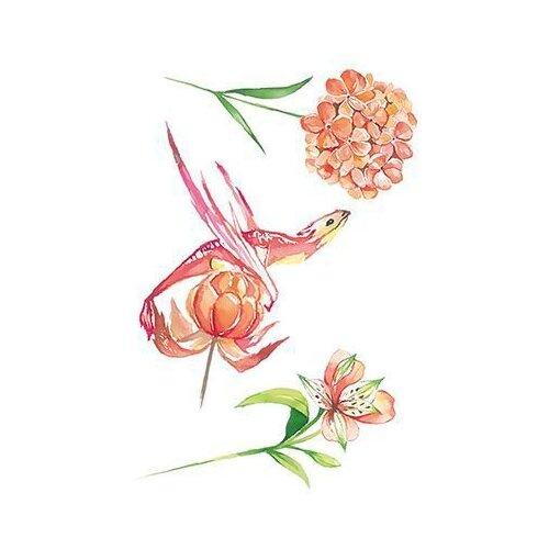Polysfera Tattoo Авторская татуировка Tattoo PS&KG 005 зеленый/розовый