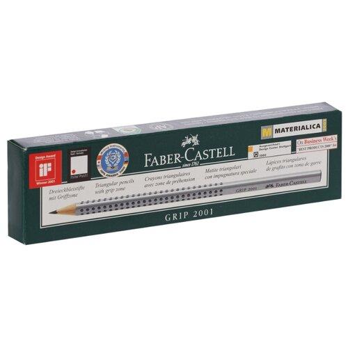 Фото - Faber-Castell Набор чернографитных карандашей Grip 2001 HB 12 шт. (117000) канцелярия faber castell грифели для механических карандашей polymer 0 7 мм hb 12 шт