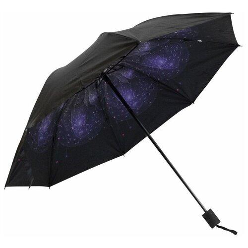 цена Зонт механика Удачная покупка YS06 черный/синий/фиолетовый онлайн в 2017 году
