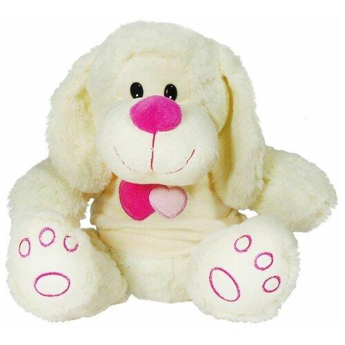 Мягкая игрушка Собачка в кофте 30см розовый