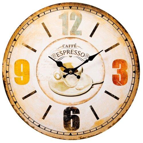 Часы настенные кварцевые Русские подарки 138639 бежевый