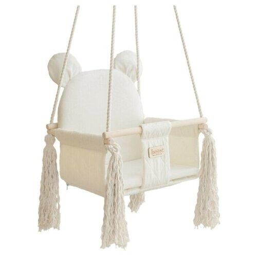 Фото - Качели Leader toys подвесные Sweet Bear, белый качели подвесные orion sweet bear цвет ванильный крем 70804