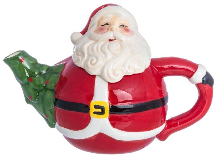 Купить Чайник 21,5х12х15,5 см 750 мл Elan Gallery Дед Мороз по низкой цене с доставкой из Яндекс.Маркета (бывший Беру)