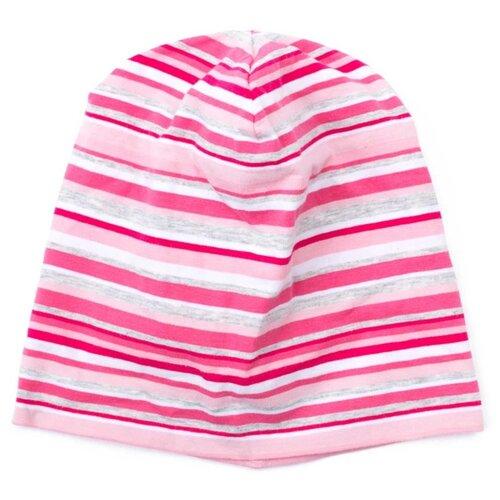 Купить Шапка playToday размер 48, розовый/белый, Головные уборы