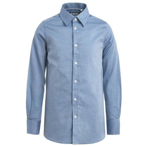 Купить Рубашка Gulliver размер 122, синий, Рубашки