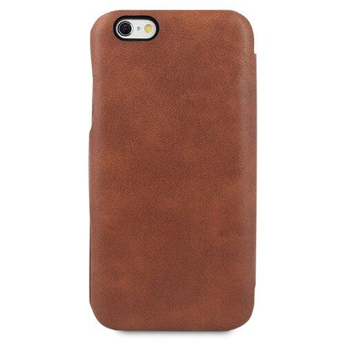 Кожаный чехол для Аpple iPhone 7 Plus и 8 Plus / Чехол Книжка на Эпл Айфон 7 Плюс и 8 Плюс с кармашком для карт (Коричневый)