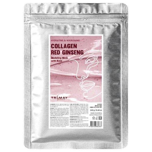 Купить Trimay Альгинатная маска с коллагеном и красным женьшенем Collagen & Red Ginseng Modeling Mask With Rose, 240гр