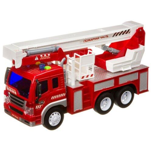Купить Пожарный автомобиль BONDIBON Парк техники (ВВ4067) 1:16 27.5 см красный, Машинки и техника