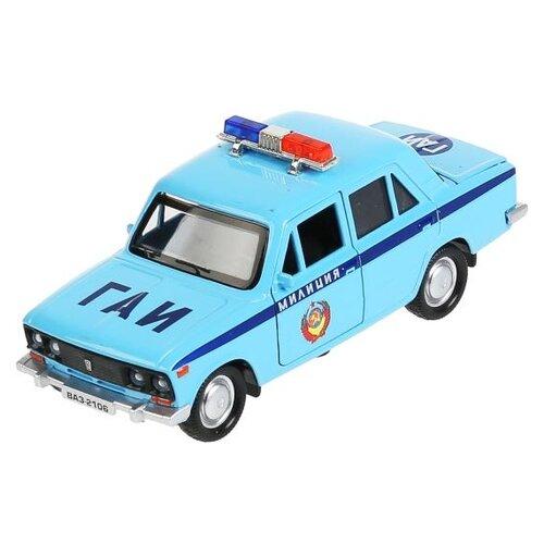 Легковой автомобиль ТЕХНОПАРК ВАЗ-2106 жигули милиция (2106-12POL), 12 см, голубой