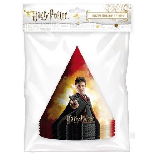 ND Play Набор колпачков Harry Potter, 6 шт 278520 (6 шт.) красный/черный бумага упаковочная nd play harry potter 2 3 100 х 70 см 2 шт красный