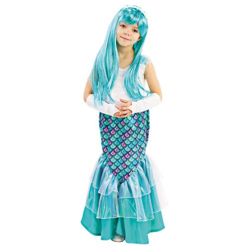 Купить Костюм пуговка Русалка (2017 к-18), голубой/белый, размер 128, Карнавальные костюмы