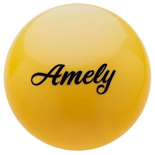 Мяч для художественной гимнастики Amely AGB-101 19 см Желтый