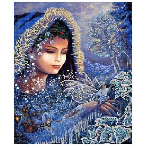 Купить Зимушка зима (рис. на сатене 29х39) 29х39 Конек 9722, Конёк, Канва