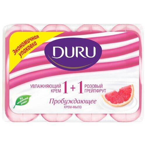 Крем-мыло кусковое DURU Soft sensations 1+1 Розовый грейпфрут, 4 шт., 90 г мыло кусковое duru fresh sensations цветочное облако 150 г