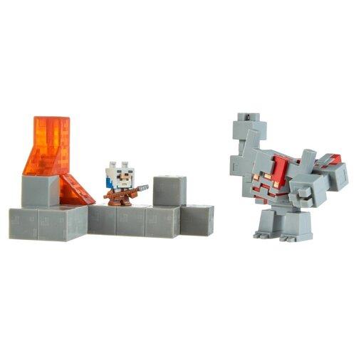 Купить Фигурки Mattel Minecraft Схватка в подземелье GNF12, Игровые наборы и фигурки