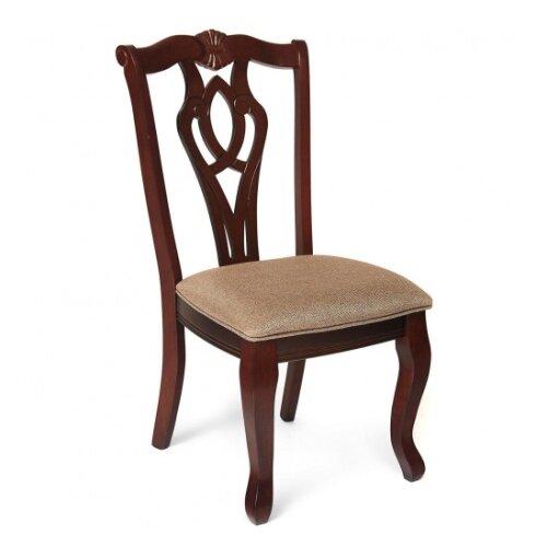 Комплект стульев TetChair Naama, дерево/текстиль, 2 шт., цвет: dark brown