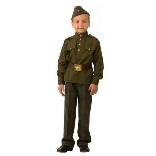 Купить Костюм Батик Солдат (8008), зеленый, размер 152, Карнавальные костюмы