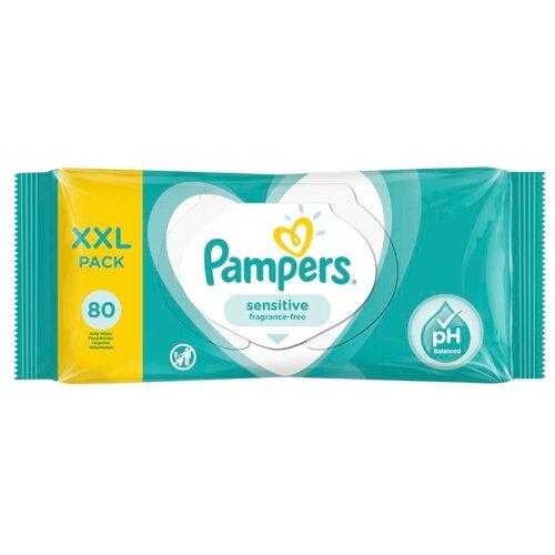 Влажные салфетки Pampers Sensitive, липучка, 80 шт.