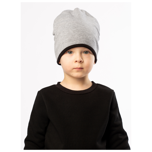 Шапка bodo размер 48-50, серый меланж/черныйГоловные уборы<br>