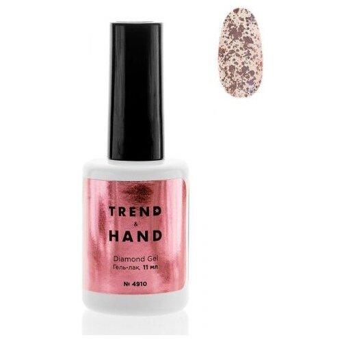 Купить Гель-лак для ногтей Trend&Hand Diamond, 11 мл, оттенок 4910 Rose gold