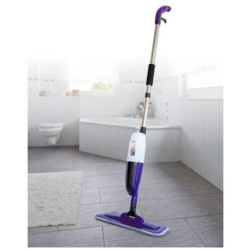 Швабра Фея порядка. SMP-824, фиолетовая со спрей-блоком для влажной уборки гладких поверхностей