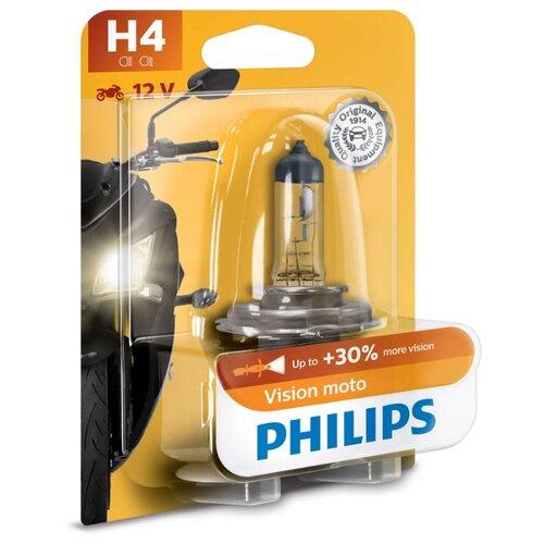 цена на Лампа автомобильная галогенная Philips Vision Moto 12342PRBW H4 12V 60/55W 1 шт.