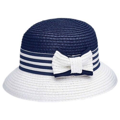Купить Шляпа Mayoral размер 58, синий/белый, Головные уборы