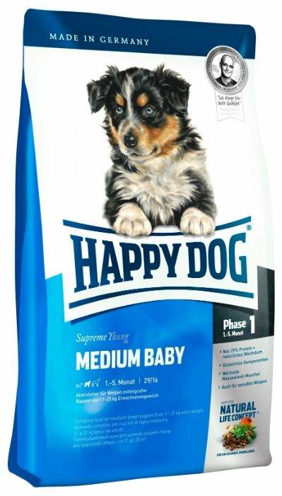 Корм для щенков Happy Dog Supreme Young (для средних пород)