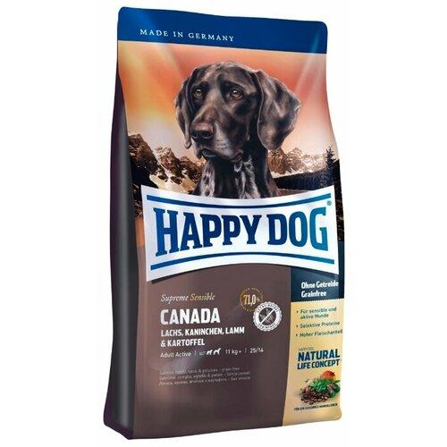 Фото - Сухой корм для собак Happy Dog Supreme Sensible Canada лосось, кролик, ягненок с картофелем 1 кг сухой корм happy dog supreme sensible adult 11kg irland salmon