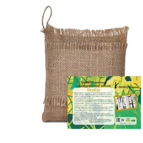 Купить Мочалка березовая 3в1 (мочалка+стружки мыла+трава), Карельское мыло