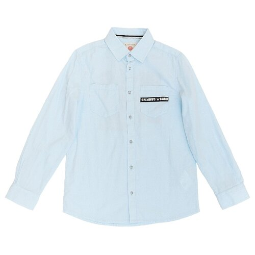 цены Рубашка Button Blue размер 158, голубой